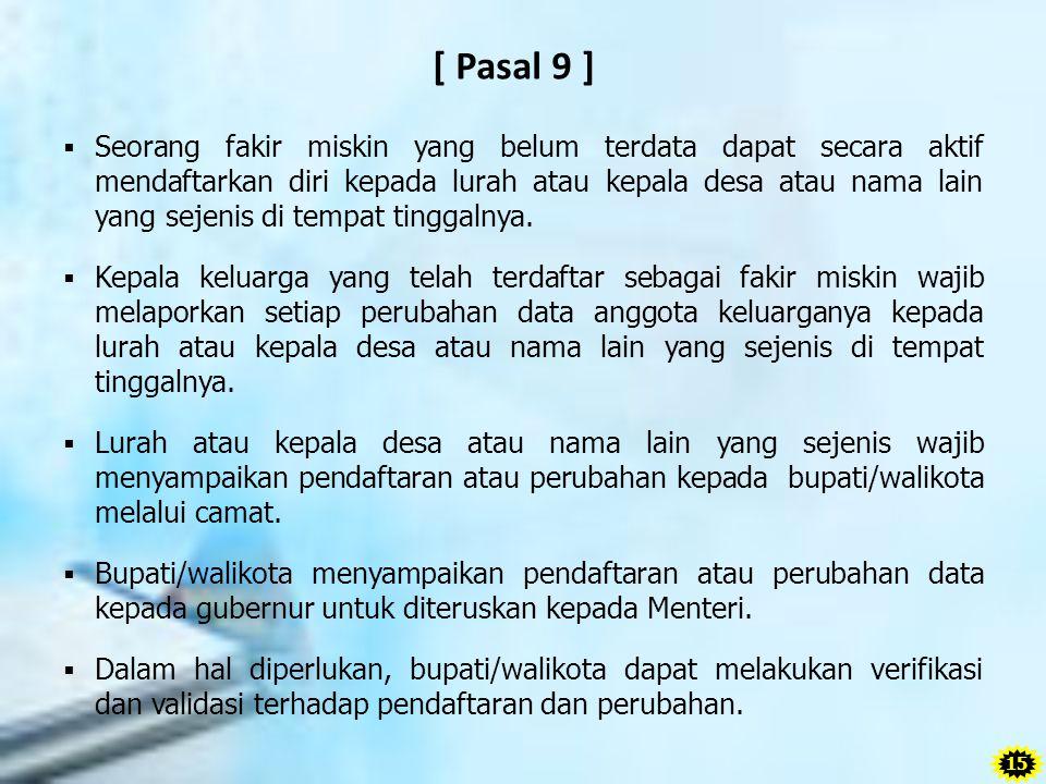 [ Pasal 9 ]